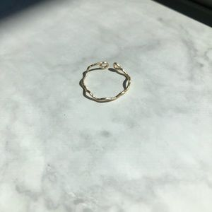 Textured Zig Zag Dainty Stacklable Ring Adjustable